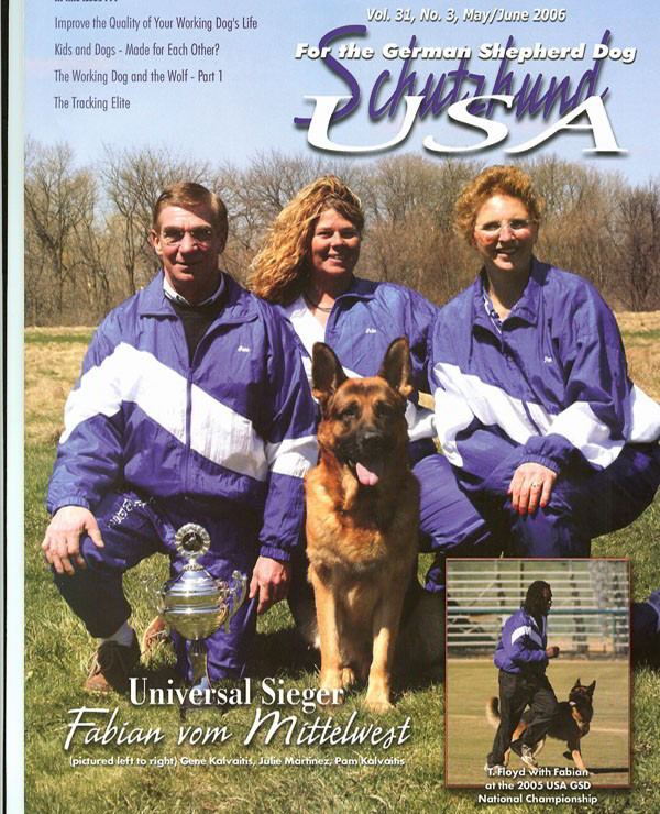 Schutzhund USA 2005 Universal Seiger Champion Fabian Vom Mittelwest